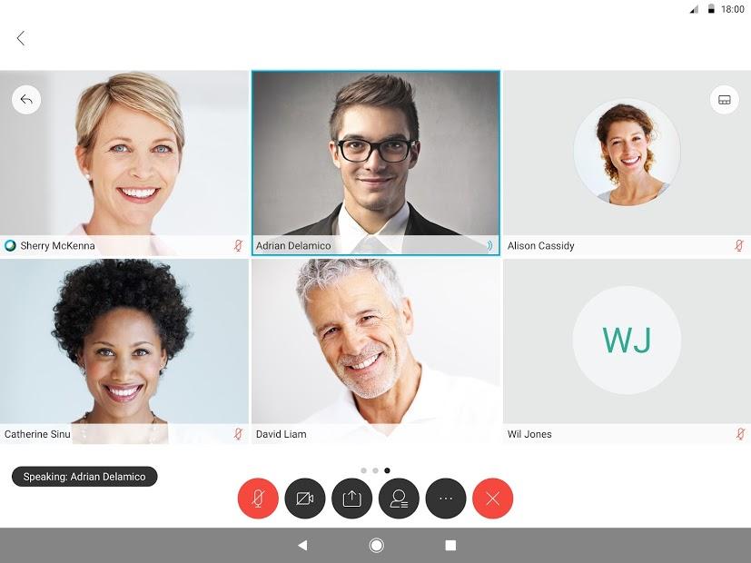 Cisco Webex Meetings Screenshot